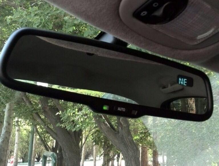 آینه الکتروکرومیک (Autodim Mirror) قطب نما دار – امریکاUSA- قابل نصب روی تمامی اتومبیل ها