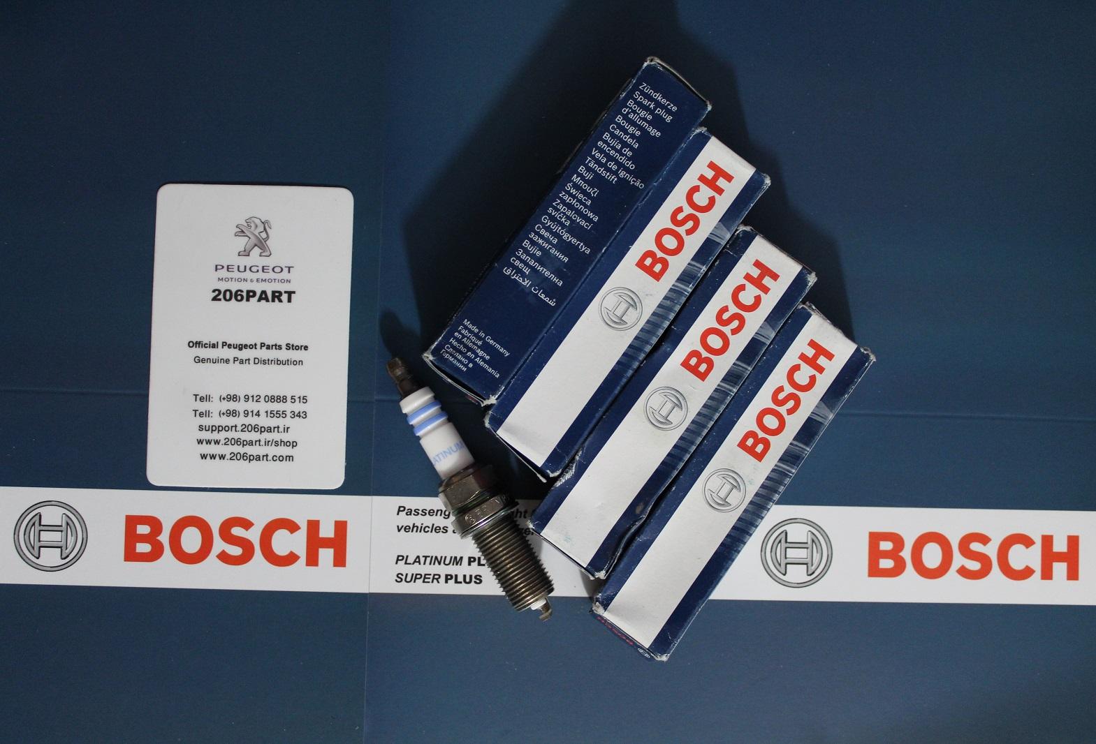 شمع سوزنی بوش BOSCH مدل دبل PLATINUM -پایه بلند(تیپ 5و6 /V8 ) – چین