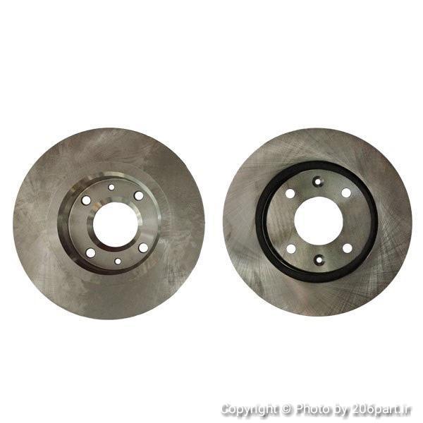 دیسک چرخ جلو 206 تیپ 5 و 207 – دست دو عددی / شرکتی فابریک