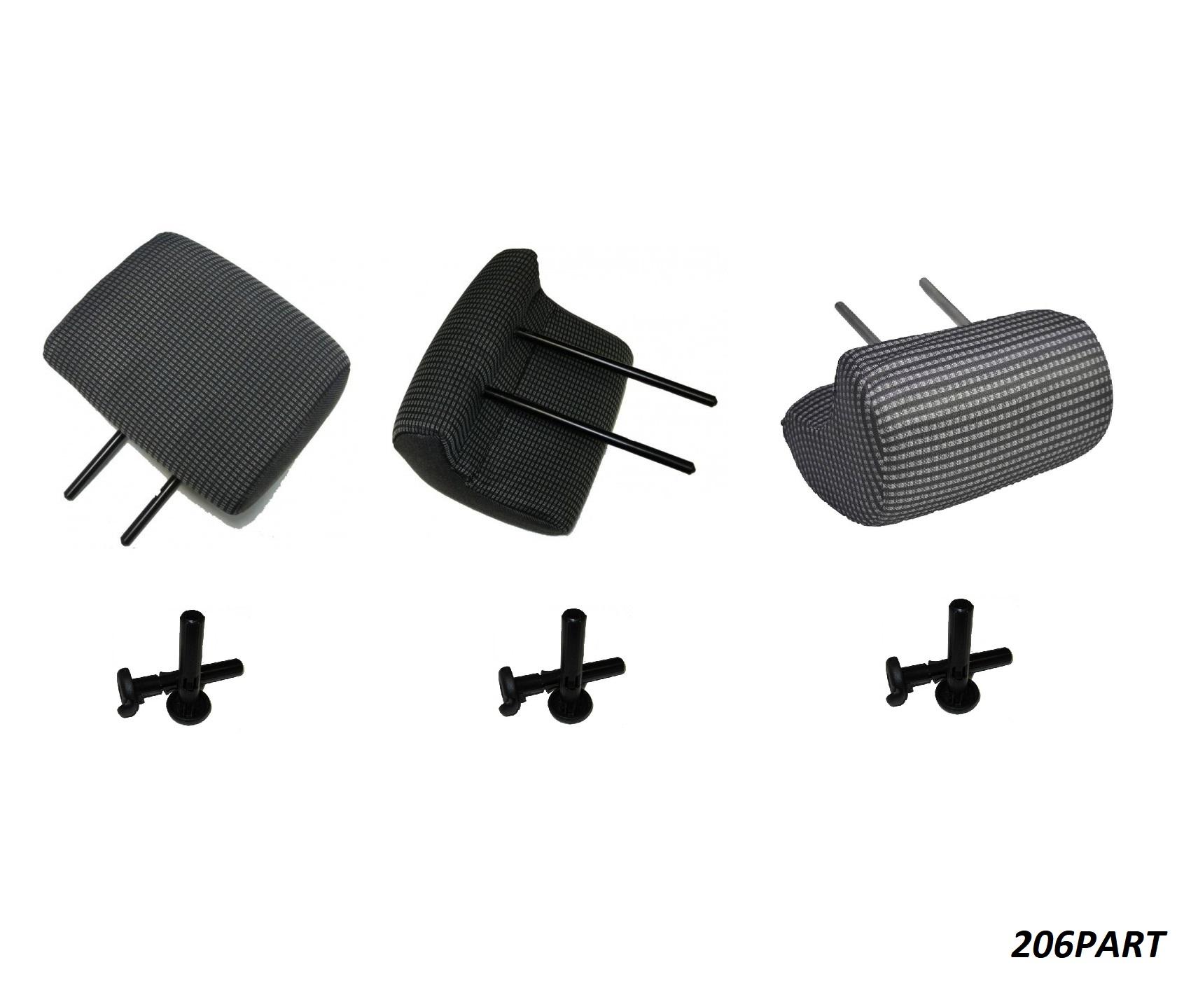 پشت سری صندلی عقب پژو 206 (ست کامل با لوازم) دست 3 عددی