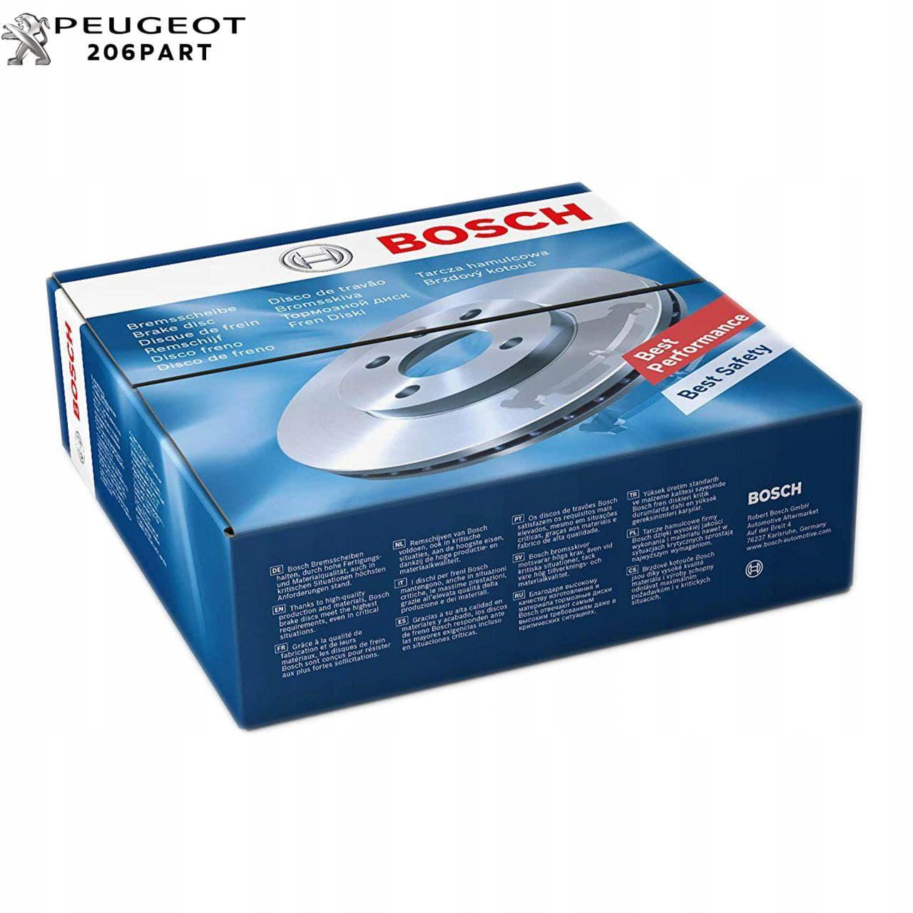 دیسک چرخ های جلو پژو 2008 / BOSCH آلمان